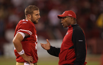 Mike Singletary and QB Alex Smith just could not get on the same page in 2010.