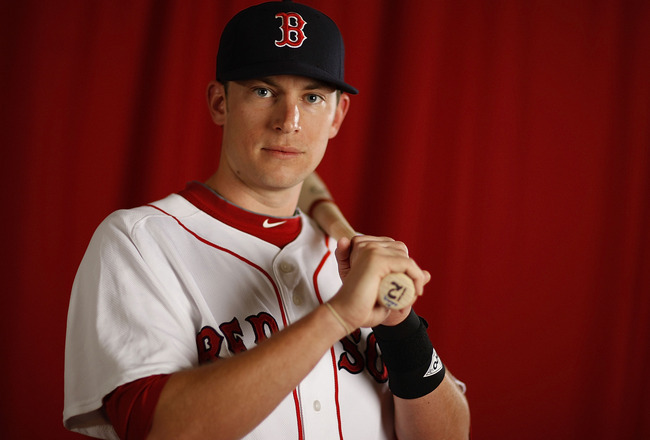 FT. MYERS, FL - FEBRUARY 28:  Jed Lowrie #12 of the Boston Red Sox poses during photo day at the Boston Red Sox Spring Training practice facility on February 28, 2010 in Ft. Myers, Florida.  (Photo by Gregory Shamus/Getty Images)