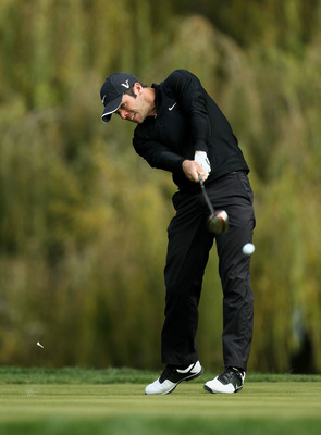 THOUSAND OAKS, CA - DECEMBER 04:  Paul Casey of England hits his tee shot on the fifth hole during round three of the Chevron World Challenge at Sherwood Country Club on December 4, 2010 in Thousand Oaks, California.  (Photo by Stephen Dunn/Getty Images)