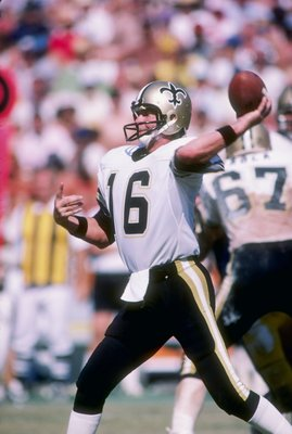 Sep 1983:  Quarterback Ken (The Snake) Stabler of the New Orleans Saints prepares to pass the ball. Mandatory Credit: Alvin Chung  /Allsport