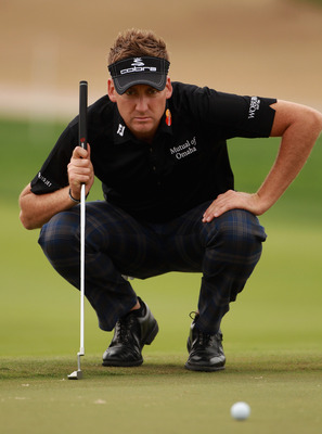 ABU DHABI, UNITED ARAB EMIRATES - JANUARY 21:  Ian Poulter of England in action during the second round of The Abu Dhabi HSBC Golf Championship at Abu Dhabi Golf Club on January 21, 2011 in Abu Dhabi, United Arab Emirates.  (Photo by Andrew Redington/Gett