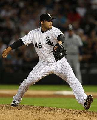 CHICAGO - JULY 26: Sergio Santos #46 of the Chicago White Sox pitches in the 9th inning against the Seattle Mariners at U.S. Cellular Field on July 26, 2010 in Chicago, Illinois. The White Sox defeated the Mariners 6-1. (Photo by Jonathan Daniel/Getty Ima