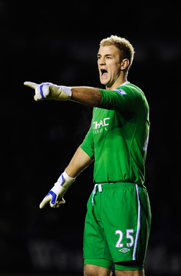 LEICESTER, UNITED KINGDOM - JANUARY 09:  Joe Hart the Manchester City goalkeeper is seen during the FA Cup sponsored by E.ON 3rd Round match between between Leicester City and Manchester City at Walkers Stadium on January 9, 2011 in Leicester, England.  (