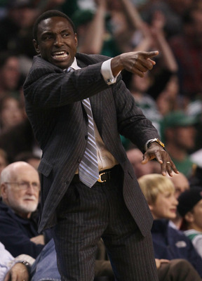 BOSTON - NOVEMBER 24:  Head coach Avery Johnson of the New Jersey Nets directs his players in the second half against the Boston Celtics on November 24, 2010 at the TD Garden in Boston, Massachusetts. The Celtics defeated the nets 89-83. NOTE TO USER: Use