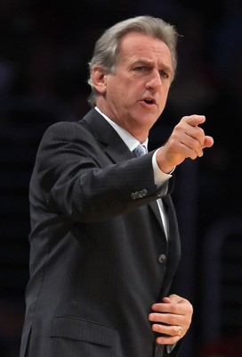 LOS ANGELES, CA - DECEMBER 03:  Sacramento Kings head coach Paul Westphal calls out a play against the Los Angeles Lakers at Staples Center on December 3, 2010 in Los Angeles, California. The Lakers defeated the Kings 113-80. NOTE TO USER: User expressly