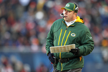 CHICAGO, IL - JANUARY 23:  Head coach Mike McCarthy of the Green Bay Packers looks on in the second half against the Chicago Bears in the NFC Championship Game at Soldier Field on January 23, 2011 in Chicago, Illinois.  (Photo by Andy Lyons/Getty Images)