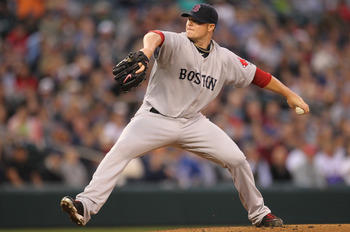 SEATTLE - SEPTEMBER 13:  Starter Jon Lester #31 of the Boston Red Sox pitches against the Seattle Mariners at Safeco Field on September 13, 2010 in Seattle, Washington. (Photo by Otto Greule Jr/Getty Images)