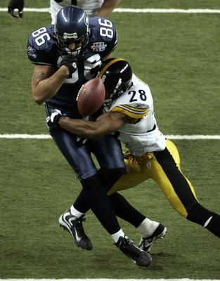 In Super Bowl XL, Hope let his game do the talking against Jerramy Stevens