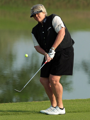 DUBAI, UNITED ARAB EMIRATES - DECEMBER 11:  Laura Davies of England before the final round of the 2010 Omega Dubai Ladies Masters on the Majilis Course at The Emirates Golf Club on December 11, 2010 in Dubai, United Arab Emirates.  (Photo by David Cannon/