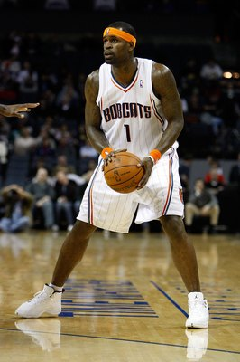 CHARLOTTE, NC - JANUARY 15:  Stephen Jackson #1 of the Charlotte Bobcats looks to pass during the game against the San Antonio Spurs on January 15, 2010 at Time Warner Cable Arena in Charlotte, North Carolina.  The Bobcats won 92-76.  NOTE TO USER: User e