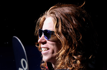 ASPEN, CO - JANUARY 25:  Shaun White of Carlsbad, California takes the podium to receive the gold medal in the Men's Snowboard Superpipe Final at Winter X Games 13 on Buttermilk Mountain on January 25, 2009 in Aspen, Colorado. White became the first to ea