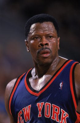 29 Mar 2000: Patrick Ewing #33 of the New York Knicks looks on the   court during a game against the Seattle SuperSonics at Key Arena in Seattle, Washington. The Knicks defeated the SuperSonics 110-95.   Mandatory Credit: Otto Greule Jr.  /Allsport