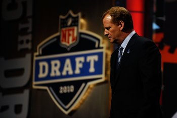 NFL Commissioner Roger Goodell at the 2010 NFL Draft