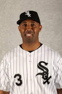 GLENDALE, AZ - FEBRUARY 28:  First base coach Harold Baines of the Chicago White Sox poses during photo media day at the White Sox spring training complex on February 28, 2010 in Glendale, Arizona.  (Photo by Ezra Shaw/Getty Images)