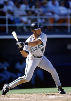 8 Apr 1996:  Gary Sheffield of the Florida Marlins in action during the Marlins 9-2 loss to the San Diego Padres at Jack Murphy Stadium in San Diego, California. Mandatory Credit: Stephen Dunn/Allsport