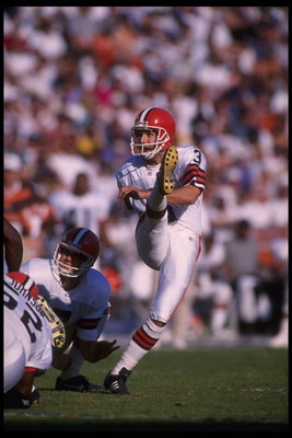 3 Dec 1995:  Kicker Matt Stover #3 of the Cleveland Browns attempts a field goal in the AFC match up against the San Diego Chargers at Jack Murphy Stadium in San Diego, California.  The Chargers defeated the Browns 31-13.  Mandatory Credit:  Steve Dunn/Al