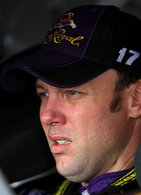 HOMESTEAD, FL - NOVEMBER 19:  Matt Kenseth, driver of the #17 Crown Royal Ford, prepares to drive during practice for the NASCAR Sprint Cup Series Ford 400 at Homestead-Miami Speedway on November 19, 2010 in Homestead, Florida.  (Photo by Jerry Markland/G
