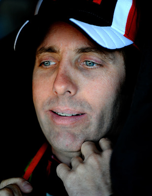 AVONDALE, AZ - NOVEMBER 13:  Greg Biffle sits aboard the #16 3M Scotch Ford during practice for the NASCAR Sprint Cup Series Kobalt Tools 500 at Phoenix International Raceway on November 13, 2010 in Avondale, Arizona.  (Photo by Rusty Jarrett/Getty Images