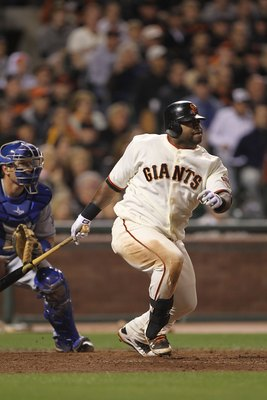 SAN FRANCISCO - JUNE 28:  Pablo Sandoval #48 of the San Francisco Giants in action against the Los Angeles Dodgers during an MLB game at AT&T Park on June 28, 2010 in San Francisco, California.  (Photo by Jed Jacobsohn/Getty Images)