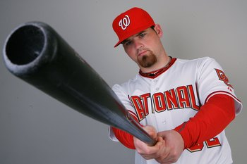 VIERA, FL - FEBRUARY 28:  Catcher Derek Norris #68 of the Washington Nationals poses during photo day at Space Coast Stadium on February 28, 2010 in Viera, Florida.  (Photo by Doug Benc/Getty Images)