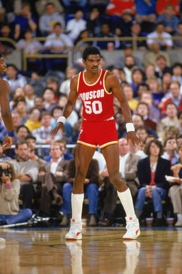 1987:  Ralph Sampson #50 of the Houston Rockets looks on during a game in the1987-88 season. NOTE TO USER: User expressly acknowledges and agrees that, by downloading and/or using this Photograph, User is consenting to the terms and conditions of the Gett
