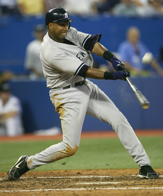 TORONTO - JULY 20:  Outfielder Bernie Williams #51 of the New York Yankees swings at a Toronto Blue Jays pitch during the game on July 20, 2006 at the Rogers Centre in Toronto, Canada.  The Jays won 5-4.  (Photo by Harry How/Getty Images)