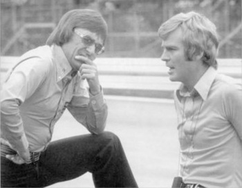 Bernie with Max Mosley in 1976