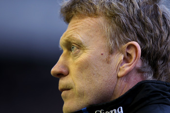 LIVERPOOL, ENGLAND - JANUARY 22:  Everton manager David Moyes during the Barclays Premier League match between Everton and West Ham United at Goodison Park on January 22, 2011 in Liverpool, England.  (Photo by Scott Heavey/Getty Images)