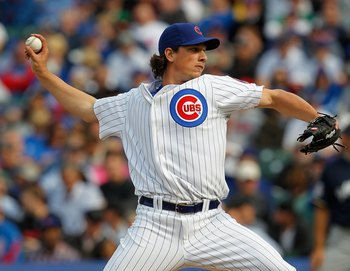 CHICAGO - APRIL 12: Jeff Samardzija #29 of the Chicago Cubs pitches against the Milwaukee Brewers on Opening Day at Wrigley Field on April 12, 2010 in Chicago, Illinois. The Cubs defeated the Brewers 9-5.  (Photo by Jonathan Daniel/Getty Images)