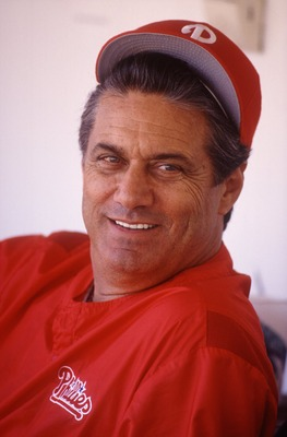 Jim Fregosi, manager of the Philadelphia Phillies. Mandatory Credit: Jonathan Daniel/ALLSPORT