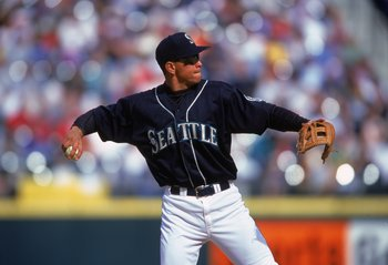 8 Apr 2000:  Alex Rodriguez #3 of the Seattle Mariners throwing the ball during the game against the New York Yankees at Safeco Field in Seattle, Washington. The Yankees defeated the Mariners 3-2. Mandatory Credit: Otto Greule Jr.  /Allsport