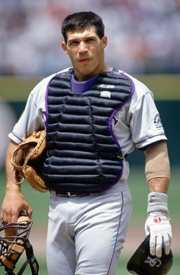 11 MAY 1994:  COLORADO CATCHER JOE GIRARDI DURING THE ROCKIES GAME VERSUS THE SAN FRANCISCO GIANTS AT CANDLESTICK PARK IN SAN FRANCISCO, CALIFORNIA. Mandatory Credit: Otto Greule/ALLSPORT