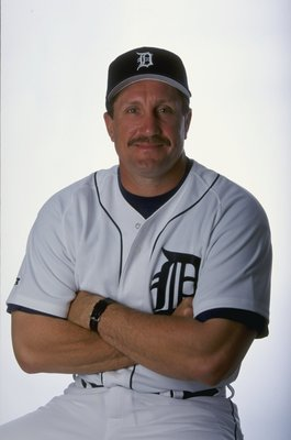 2 Mar 1999:  Coach Lance Parrish #13 of the Detroit Tigers poses for a studio portrait on Photo Day during Spring Training at the Joker Merchant Stadium in Lakeland, Florida. Mandatory Credit: Vincent Laforet  /Allsport