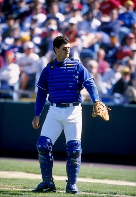 10 Mar 1998: Mike Macfarlane #15 of the Kansas City Royals looks on during a spring training game against the New York Yankees at Baseball City Stadium in Davenport, Florida. The Yankees tied the Royals 6-6.