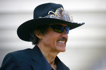 CONCORD, NC - JANUARY 26:  NASCAR Hall of Famer and team owner Richard Petty, looks on during the NASCAR Sprint Media Tour hosted by Charlotte Motor Speedway, held at Charlotte Motor Speedway on January 26, 2011 in Concord, North Carolina.  (Photo by Jaso
