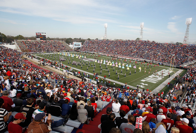 MOBILE, AL - JANUARY 29:Opening ceremonies during  the Under Armour Senior Bowl on January 29, 2011 at Ladd-Pebbles Stadium in Mobile, Alabama. (Photo by Sean Gardner/Getty Images for Under Armour)