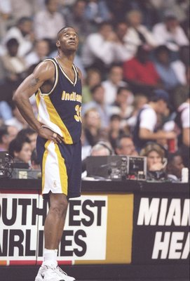 17 Dec 1996:  Forward Antonio Davis of the Indiana Pacers stands on the court during a game against the Miami Heat at the Miami Arena in Miami, Florida.  The Pacers won the game 103-89. Mandatory Credit: Andy Lyons  /Allsport