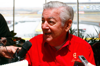 CONCORD, NC - JANUARY 26:  NASCAR Hall of Famer Bobby Allison, speaks to the media during the NASCAR Sprint Media Tour hosted by Charlotte Motor Speedway, held at Charlotte Motor Speedway on January 26, 2011 in Concord, North Carolina.  (Photo by Jason Sm