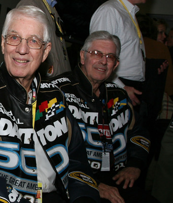 DAYTONA BEACH, FL - FEBRUARY 14:  (L-R) NASCAR legends Junior Johnson, Glenn Wood and Leonard Wood attend the NASCAR Sprint Cup Series Daytona 500 at Daytona International Speedway on February 14, 2010 in Daytona Beach, Florida.  (Photo by Jerry Markland/