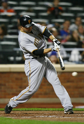 NEW YORK - SEPTEMBER 14:  Neil Walker #18 of the Pittsburgh Pirates bats against the New York Mets on September 14, 2010 at Citi Field in the Flushing neighborhood of the Queens borough of New York City.  (Photo by Andrew Burton/Getty Images)