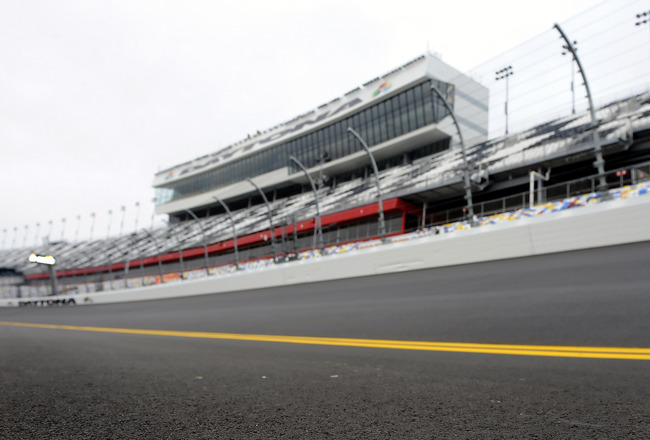 DAYTONA BEACH, FL - JANUARY 22:  A look at the new and improved racing surface at Daytona International Speedway on January 22, 2011 in Daytona Beach, Florida.  (Photo by Jared C. Tilton/Getty Images for NASCAR)
