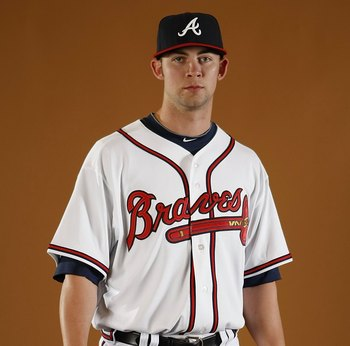 KISSIMMEE, FL - FEBRUARY 26:  Mike Minor #73 of the Atlanta Braves poses during photo day at Champions Stadium on February 26, 2010 in Kissimmee, Florida.  (Photo by Gregory Shamus/Getty Images)