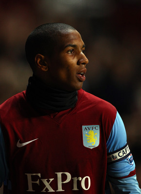 BIRMINGHAM, ENGLAND - DECEMBER 11:  Ashley Young of Villa wears a snood around his neck during the Barclays Premier League match between Aston Villa and West Bromwich Albion at Villa Park on December 11, 2010 in Birmingham, England.  (Photo by Richard Hea