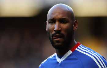 LONDON, ENGLAND - JANUARY 09:  Nicolas Anelka of Chelsea looks on during the FA Cup sponsored by E.ON 3rd round match between Chelsea and Ipswich Town at Stamford Bridge on January 9, 2011 in London, England.  (Photo by Scott Heavey/Getty Images)