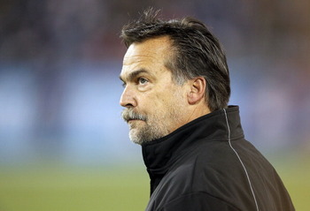 NASHVILLE, TN - DECEMBER 09:  Jeff Fisher the Head Coach of the Tennessee Titans watches his team play against the Indianapolis Colts during the NFL game at LP Field on December 9, 2010 in Nashville, Tennessee.  (Photo by Andy Lyons/Getty Images)