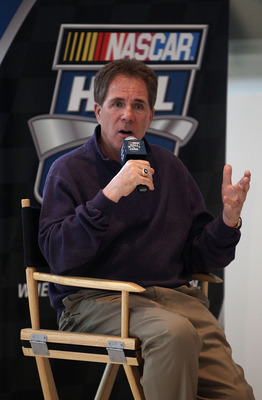 CHARLOTTE, NC - MARCH 22:  Darrell Waltrip speaks to the media about the unveiling of his Championship-winning No. 11 Mountain Dew Buick during the kick off of the final 50 days before the opening of the NASCAR Hall of Fame at the NASCAR Hall of Fame on M