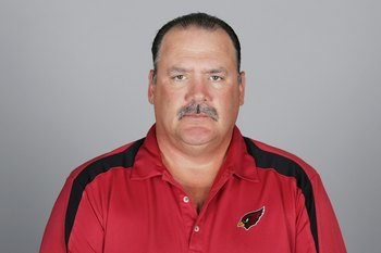 GLENDALE, AZ - 2009:  Russ Grimm of the Arizona Cardinals poses for his 2009 NFL headshot at photo day in Glendale, Arizona.  (Photo by NFL Photos)