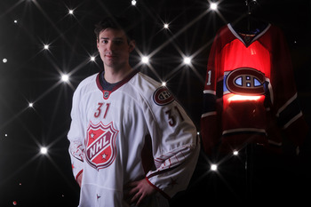 RALEIGH, NC - JANUARY 30:  (EDITORS NOTE: A special effects camera filter was used for this image.) Carey Price #31 of the Montreal Canadiens for Team Staal poses for a portrait before the 58th NHL All-Star Game at RBC Center on January 30, 2011 in Raleig