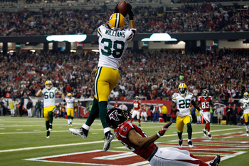 Tramon Williams intercepts Matt Ryan in the NFC Divisional Playoffs