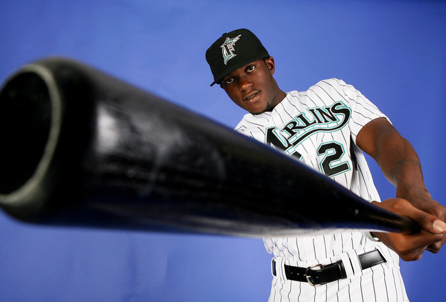 JUPITER, FL - FEBRUARY 22:  Cameron Maybin #24 of the Florida Marlins poses during photo day at Roger Dean Stadium February 22, 2009 in Jupiter, Florida.  (Photo by Doug Benc/Getty Images)